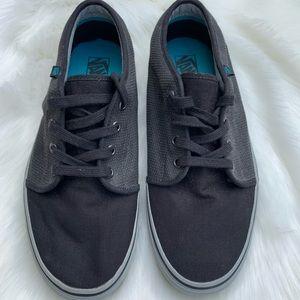 Vans Off The Wall Skate Shoe Balck Grey Mens Sz 9